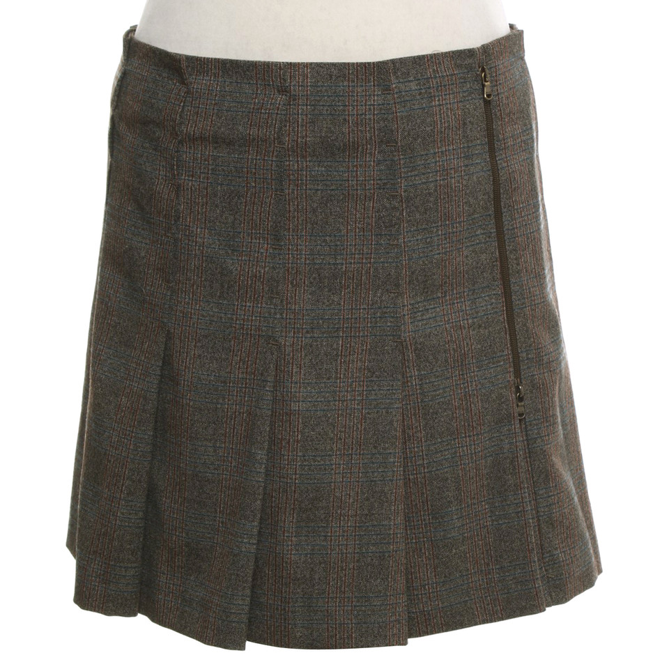 Strenesse Geplooide rok met geblokt patroon