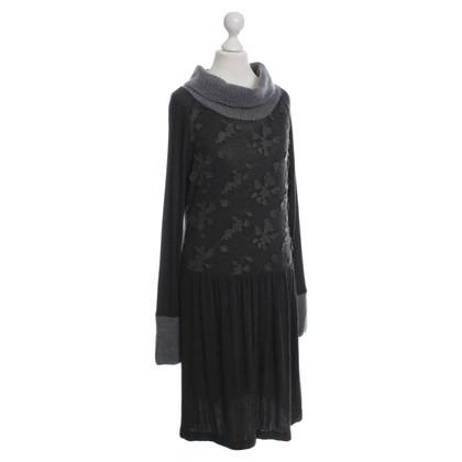 Max Mara Jersey dress with Wool Lace