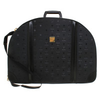MCM Travel suitcase with logo pattern