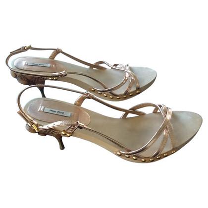 Miu Miu Schuh im Metallic Look
