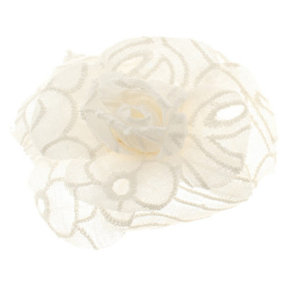 Chanel Camellia brooch from lace