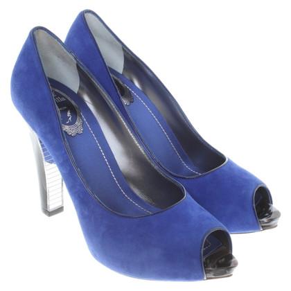 René Caovilla Peeptoes in blue