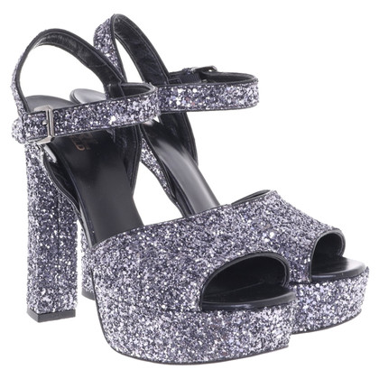 Karl Lagerfeld Plateau pumps with glitter effect
