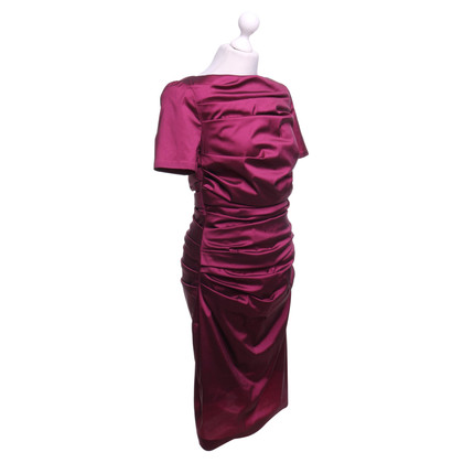 Talbot Runhof Dress in fuchsia