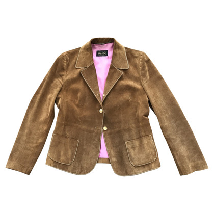 Golden Buckle Lederblazer
