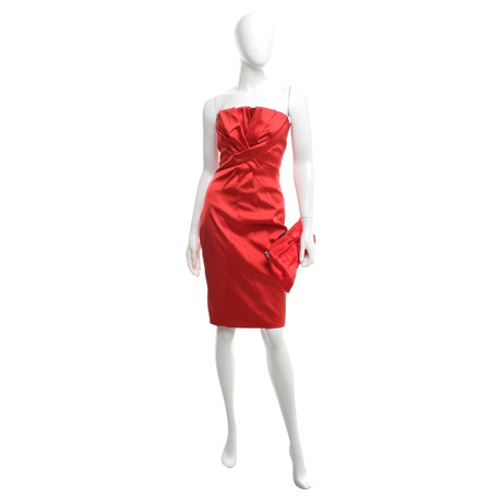 Karen Millen Kleid & Clutch in Rot Rot