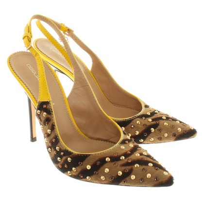 Dsquared2 Slingpumps with animal design