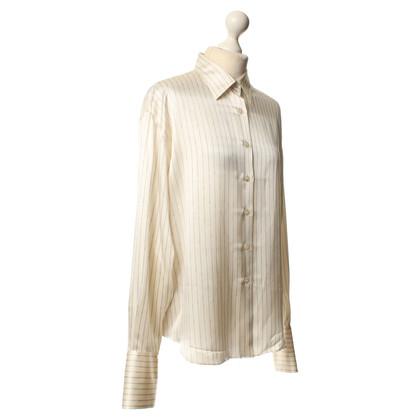 Chanel Blusa in seta in crema