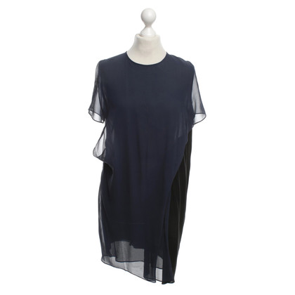 Acne Silk Dress in Black / Blue