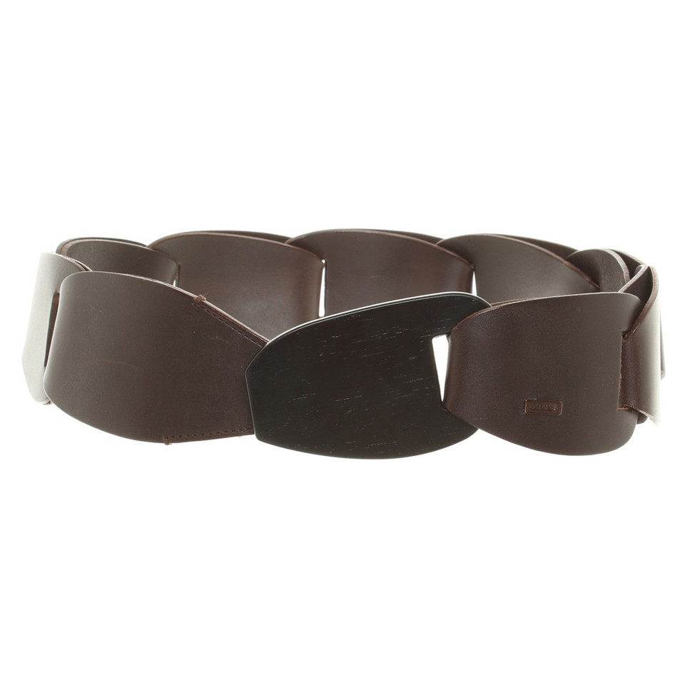 gucci brown leather belt buy second gucci brown