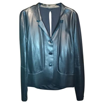Jil Sander  leather jacket at the back open