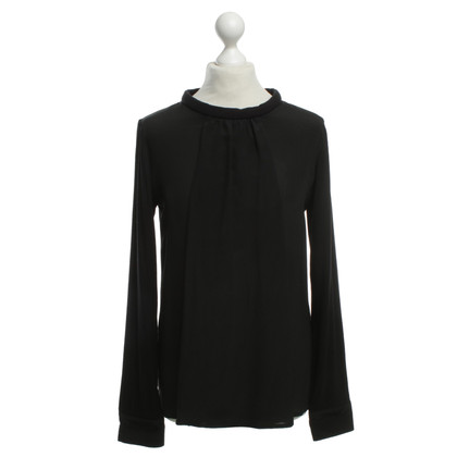 Max & Co Seidenbluse in Schwarz