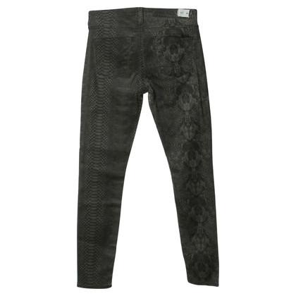 Hudson Stampa serpente jeans