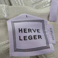 Hervé Léger Kleid mit silberfarbenem Finish