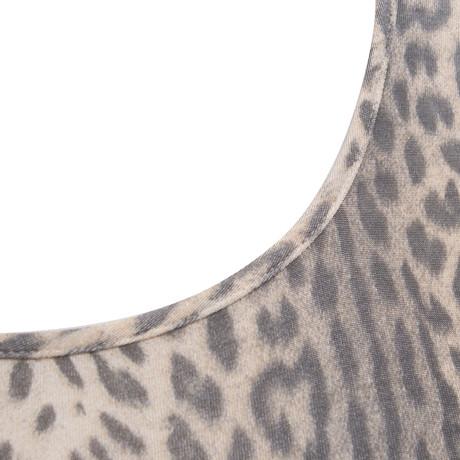 Just Oberteil Just Print Cavalli Leoparden Beige Cavalli Oberteil mit mit pwZtXqd