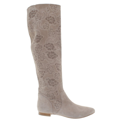 The Seller Boots with lace pattern