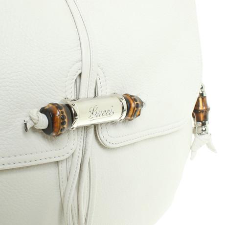Gucci Schultertasche in Cremeweiß Creme Online-Shopping-Outlet Verkauf vhjJp