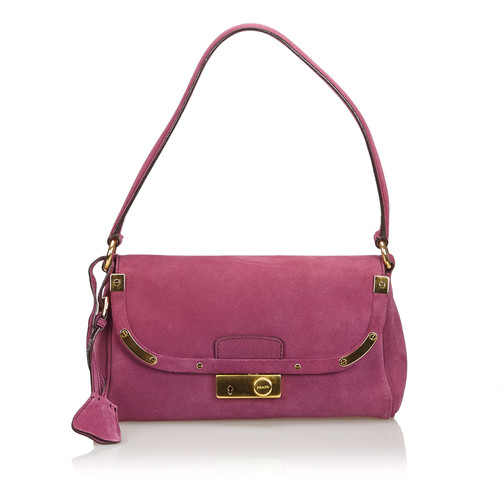 df9100e0c0 Prada Shoulder bag Suede in Violet - Second Hand Prada Shoulder bag ...