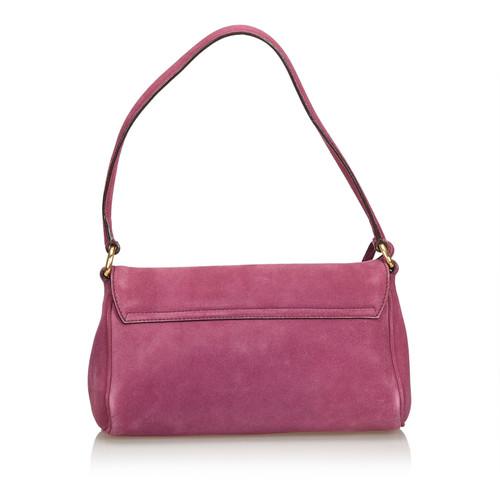 133c376acf Prada Shoulder bag Suede in Violet - Second Hand Prada Shoulder bag ...