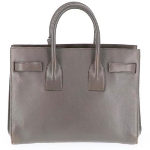 c42c3b28651 Yves Saint Laurent Handbag Leather in Grey - Second Hand Yves Saint ...