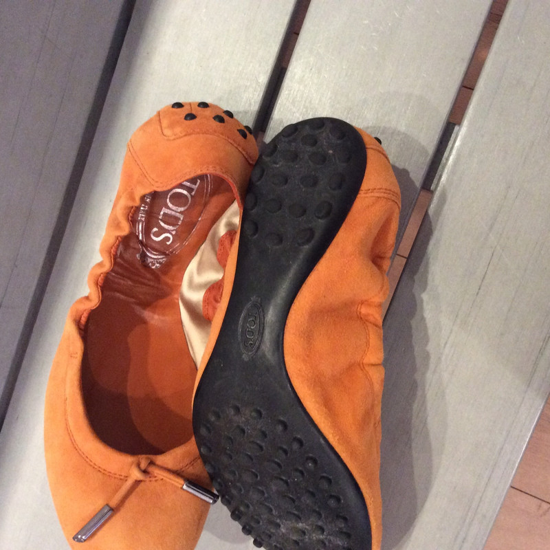 Tod's SlipperBallerinas aus Wildleder in Orange Second