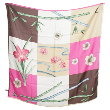 Patek Philippe Silk scarf with flower motif