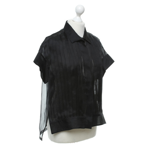 8e6017d2a9031 Jil Sander Top Silk in Black - Second Hand Jil Sander Top Silk in ...
