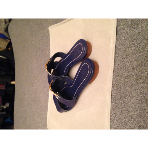 788bddfda Tory Burch Sandals Leather in Blue - Second Hand Tory Burch Sandals ...