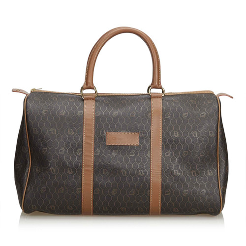 50c0fca405c6 Christian Dior Travel bag Leather in Black - Second Hand Christian ...