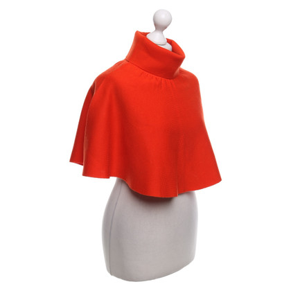 Cos Knitted cape in orange