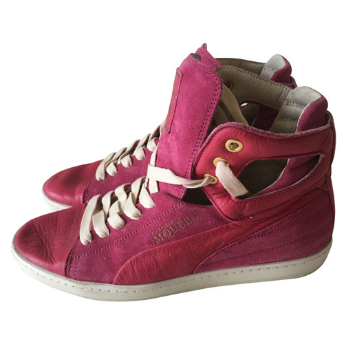 7f92f80730f5 Alexander McQueen for Puma Lace-up shoes Suede in Fuchsia - Second ...