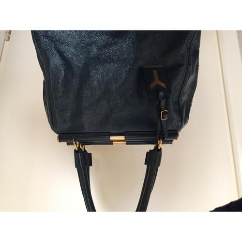 e83eaee39a31 Yves Saint Laurent Tote bag in Blue - Second Hand Yves Saint Laurent ...
