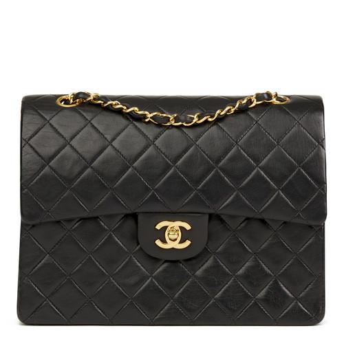 Chanel Classic Flap Bag Medium cuir noir - Acheter Chanel Classic ... cb4f51a702921