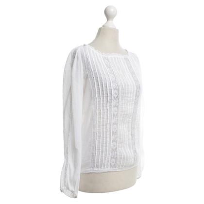 Isabel Marant Etoile Blouse in wit met kant