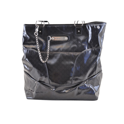 c1b9109f20 Céline Tote bag Patent leather in Black - Second Hand Céline Tote ...