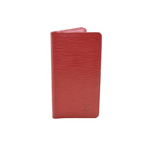 253e2a1b3f1b6 Louis Vuitton Täschchen Portemonnaie aus Leder in Rot - Second Hand ...