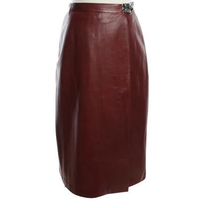 Hermès Wrap skirt in Bordeaux