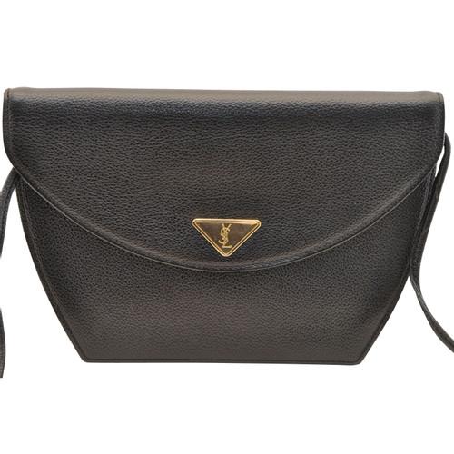 9870382cde4 Yves Saint Laurent Handbag Leather in Black - Second Hand Yves Saint ...