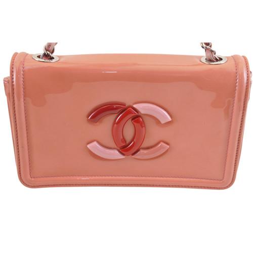 99e01646a37a Chanel Sac à bandoulière en Cuir verni en Rose/pink - Acheter Chanel ...