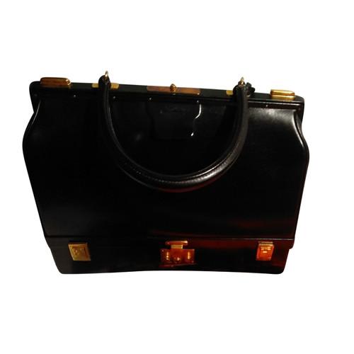 68d7ec0d70b1e Hermès Handtasche aus Lackleder in Schwarz - Second Hand Hermès ...