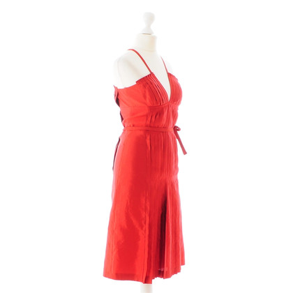 Hugo Boss Rotes Trägerkleid aus Seide