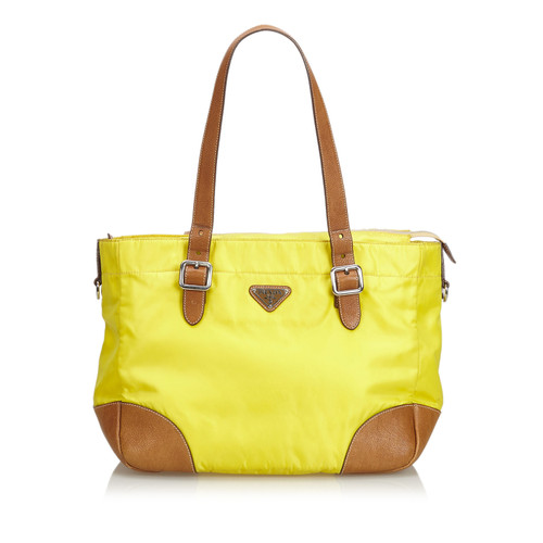 36be42f2f4aa Prada Tote bag in Yellow - Second Hand Prada Tote bag in Yellow buy ...