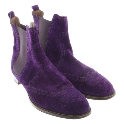 Hermès Chelsea Boots in Purple