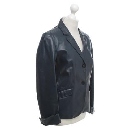 Bally giacca in pelle in blu