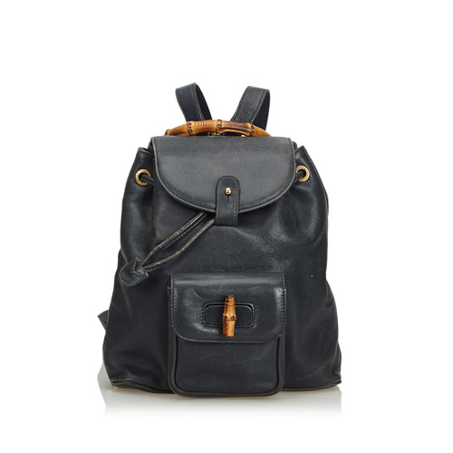 Gucci Backpack Leather in Black - Second Hand Gucci Backpack Leather ...