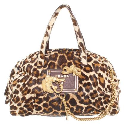 Prada Handtas met leopard patroon