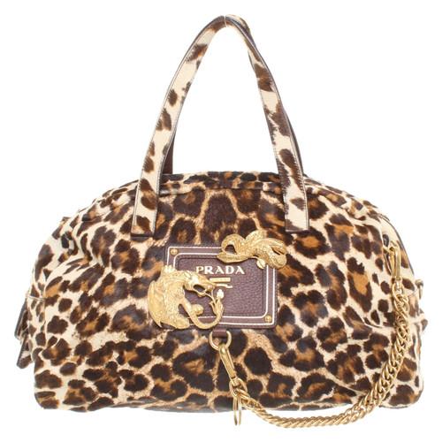 Prada Handbag with leopard pattern - Second Hand Prada Handbag with ... 27d8a5f649bee