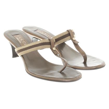 Gucci Metallic sandals