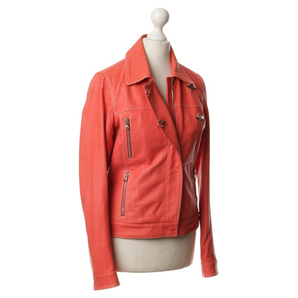 Fay Leather jacket in salmon