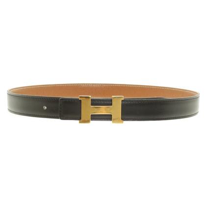 Hermès Cintura in pelle reversibile
